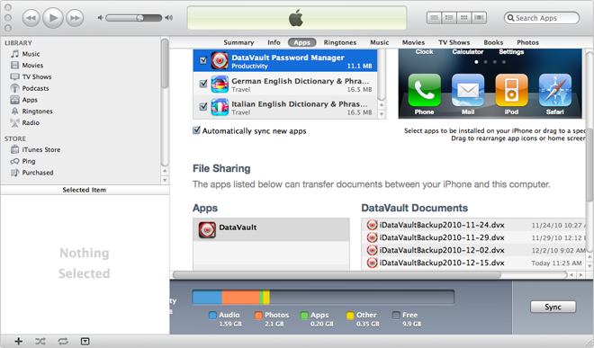 User Guide - Backup and Restore - DataVault Password Manager for