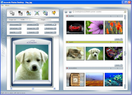 BlackBerry Photo Manager Desktop